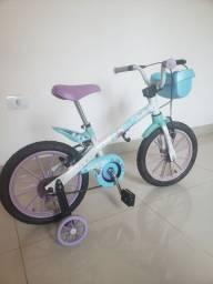Vendo bike infantil  aro 16 da frozen...