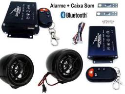 Alarme para moto USB,MP3, Bluetooth