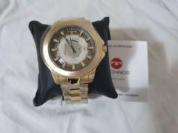 Relógio technos dourado edição especial