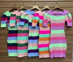Vestidos e blusa  tricô  modal