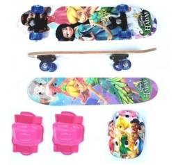 Promoção Skate Ben 10 e Skate Fadas Disney com Equipamentos de Segurança