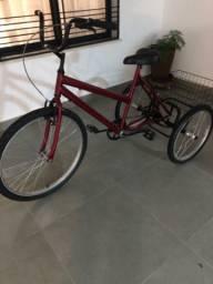Triciclo adulto novo cor vermelha