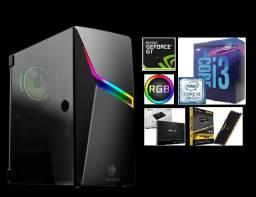 PC Gamer/Workstation i3 9ª ger./ssd 120gb/8GB ddr4/Nvidia 1030 (12 meses de garantia!)