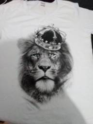 Blusa leao feminina camiseta feminina leão com coroa
