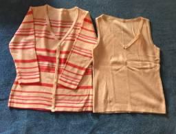 Conjunto casaco e blusa Tam P de lazinha em santa cruz do sul