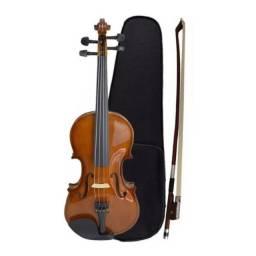 Violino 3/4 Dominante C/ Arco Breu e Estojo - Loja Física