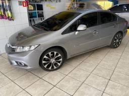 Civic cinza lxr completo automático 2014 top