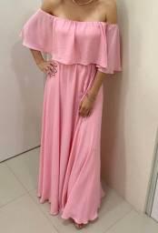 Lindo vestido Longo ROSA