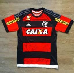 Camisa Flamengo de jogo, toda autografada!!!
