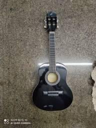 cavaquinho semi-novo preto com capa