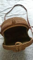 Linda bolsa de palha