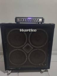 Cabeçote  Para baixo Ampeg PF 500/ Caixa Hartke 410 XL