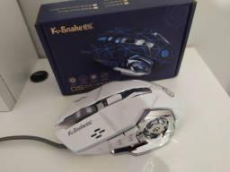 Mouse Gamer K-Snake Q5 Branco