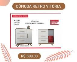 Cômoda c/3 gavetas Retrô PROMOÇÃO