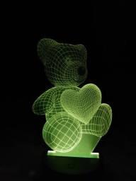 Luminária de LED ursinho
