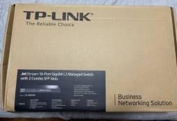 Switch Tp-Link TL-SG3216 Com 16 Portas Gigabit Mais 2 Portas Combo SFP