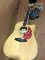 Título do anúncio: Vendo violão Folk elétrico 500 reais