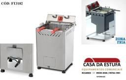 Fritadeira água e óleo Inox com dois cestos 5000w.nova com nf e garantia