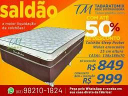 SLEEP POCKET CASAL , 25CM Molas Ensacadas! Frete Grátis! <br>