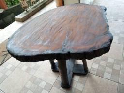 Mesa madeira artesanal árvore 7 cascas