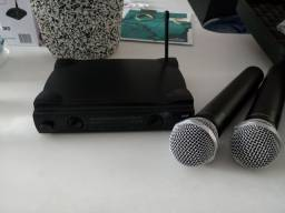 Microfone duplo profissional sem fio, MXT UHF - 302