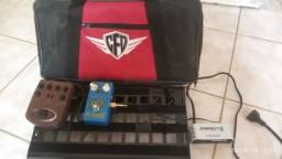 Pedal Reberb + Direct ADI21 + Pedal Board + Fonte