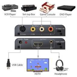 Conversor AV e S-Video para HDMI 1080p (uso em videogames)