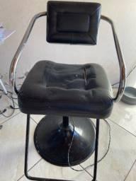 Cadeira giratória para salão de beleza
