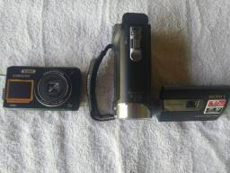 Filmadora SONY e máquina fotografica Samsung