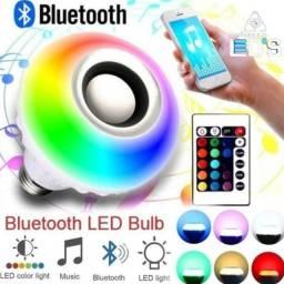 Lâmpada Luz Led Rgb Bluetooth Caixa Som Controle Remoto