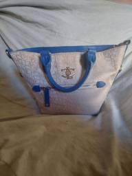 Bolsa Chique Colcci Dourada com Azul