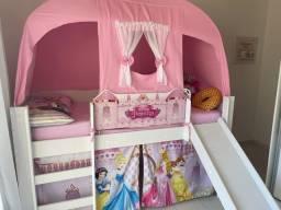 Cama infantil MDF Princesas