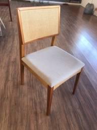 Conjunto de cadeiras palhinha
