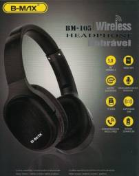 Headset Dobrável B-max Bm-105 Bluetooth Fm/Am Cartao De Memoria - Loja Natan Abreu