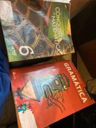 Livros de 6 ano Matemática e Português