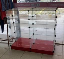 Balcão de vidro 1,00x1,20 pronta entrega para toda Goiânia e região