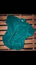 Blusão verde de seda