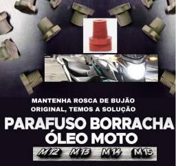 Parafuso borracha/ bujão espanado