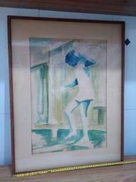 Quadro pintura criança 50 cm