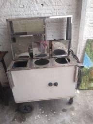 vende-se fogão industrial e carrinho de cachorro quente