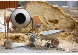 Aluguel de betoneira, andaime, escoras,carro de mão e outros