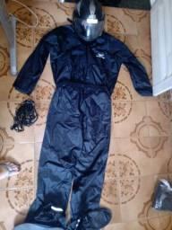 Kit capa de chuva capacete