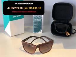 Óculos de Sol Mormaii Original Origami Marrom só 3x de R$ 77 + frete Grátis para Maringá