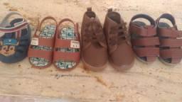 Combo de sandálias e botinha Pimpolho,Cartago e Grandene