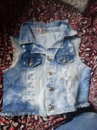 Colete jeans M usado ENTREGO
