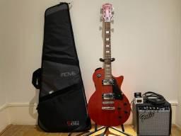 Kit: Guitarra Les Paul LPS -260 / Amplificador Fender / Capa ?nova? e outros acessórios