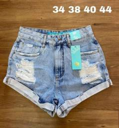 Shorts jeans cós alto