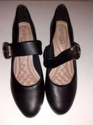 Sapato scarpim beira rio salto baixo conforto