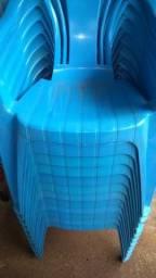 12 cadeiras poltronas azuis