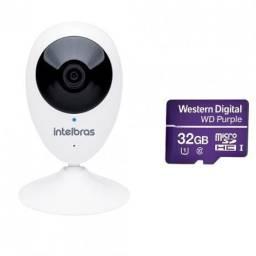 Câmera IP Sem Fio Wi-Fi HD MiBO iC3 + Micro SD Purple 32 GB Intelbras
